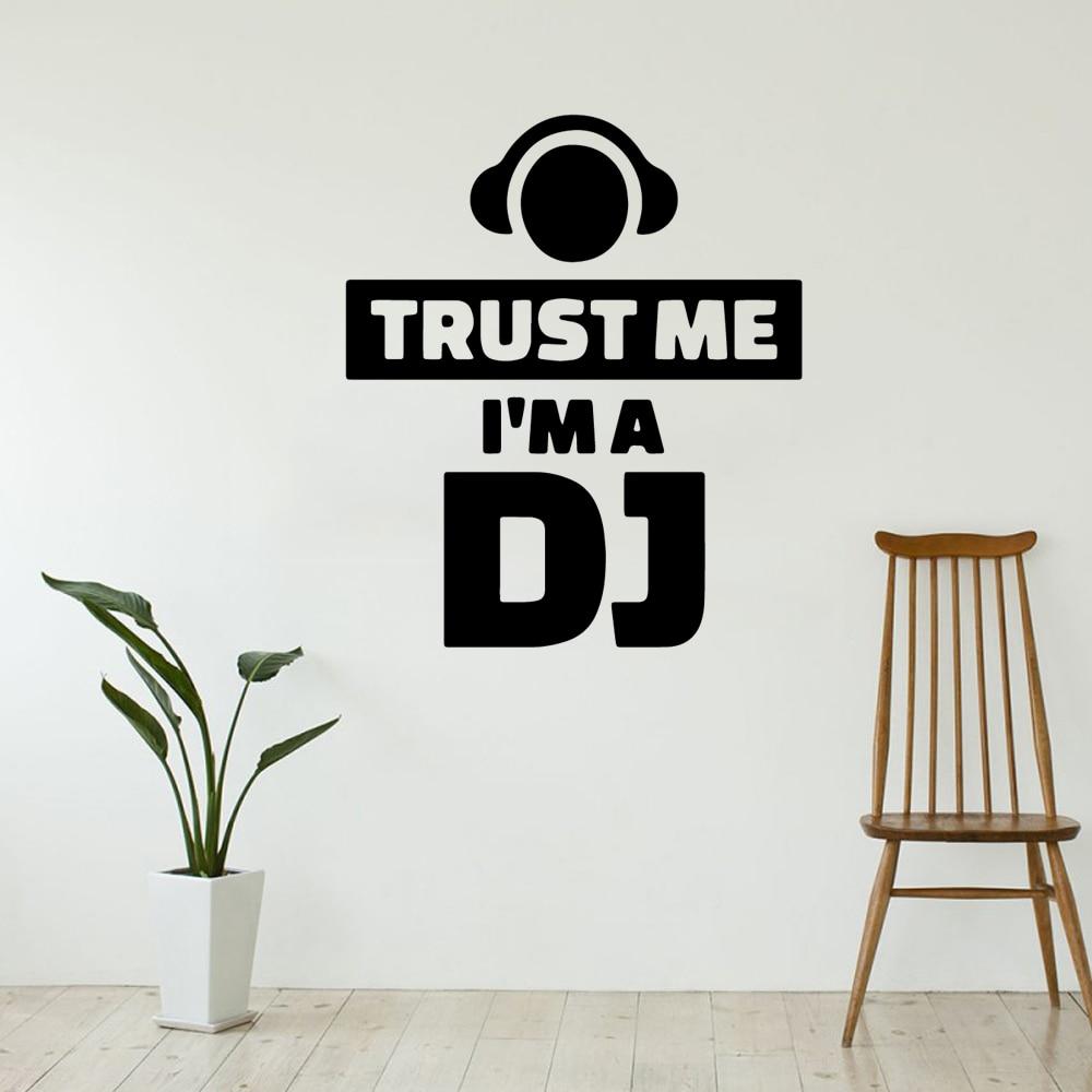 Pegatina de vinilo con frase I'm a DJ para pared, decoración para...