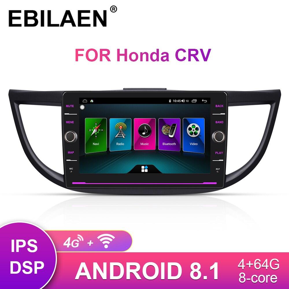 EBILAEN Car Radio Multimedia Player Head Unit For Honda CR-V CRV 2012-2016 2Din Android 8.1 Auto GPS Navigation Tape Recorder