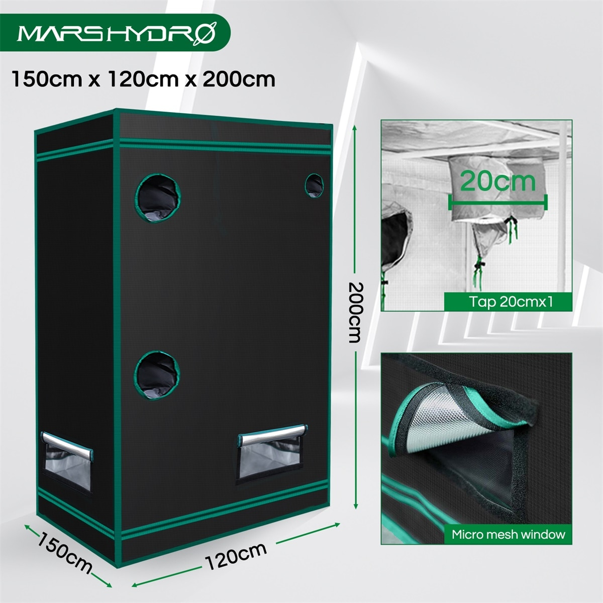 Mars Hydro SP 6500  2IN1 150x120CM Grow Tent Led Grow Light SAMSUNG LM301B Dimmable Full Spectrum Phytolamp for Indoor Plants enlarge