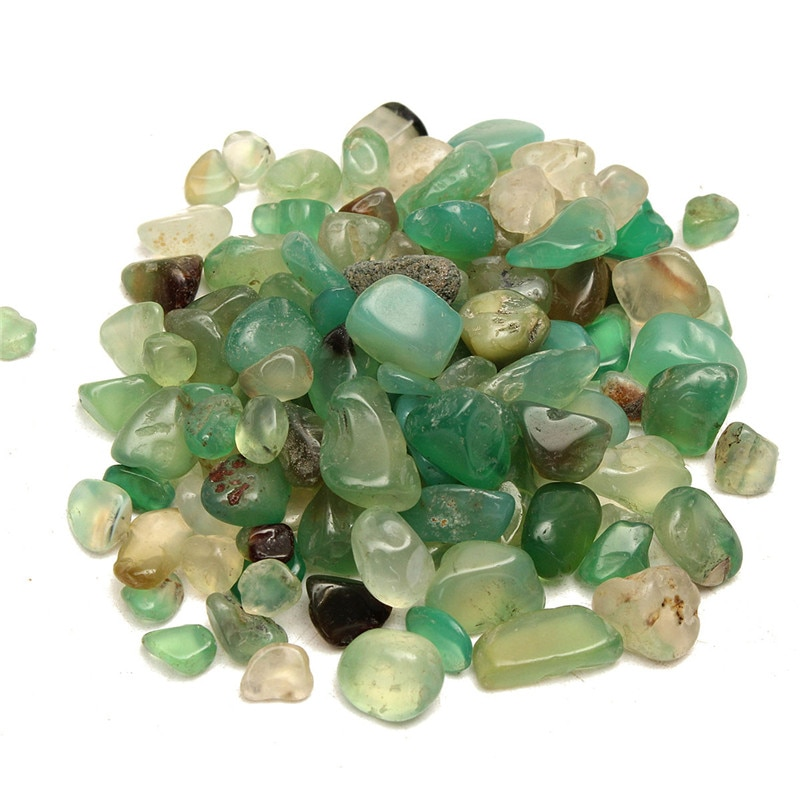 Натуральный нефритовый гравий, 50 г, кристаллический камень, образец горной породы, заживляющий камень для аквариума, материал для аквариума...