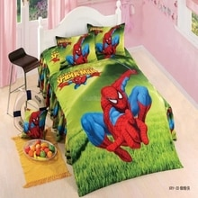 Kids 3d Cartoon Spiderman Character Printed Bedding Set Boy Girls Super Hero Minions Duvet Cover Set with Bed Sheet Pillowcase