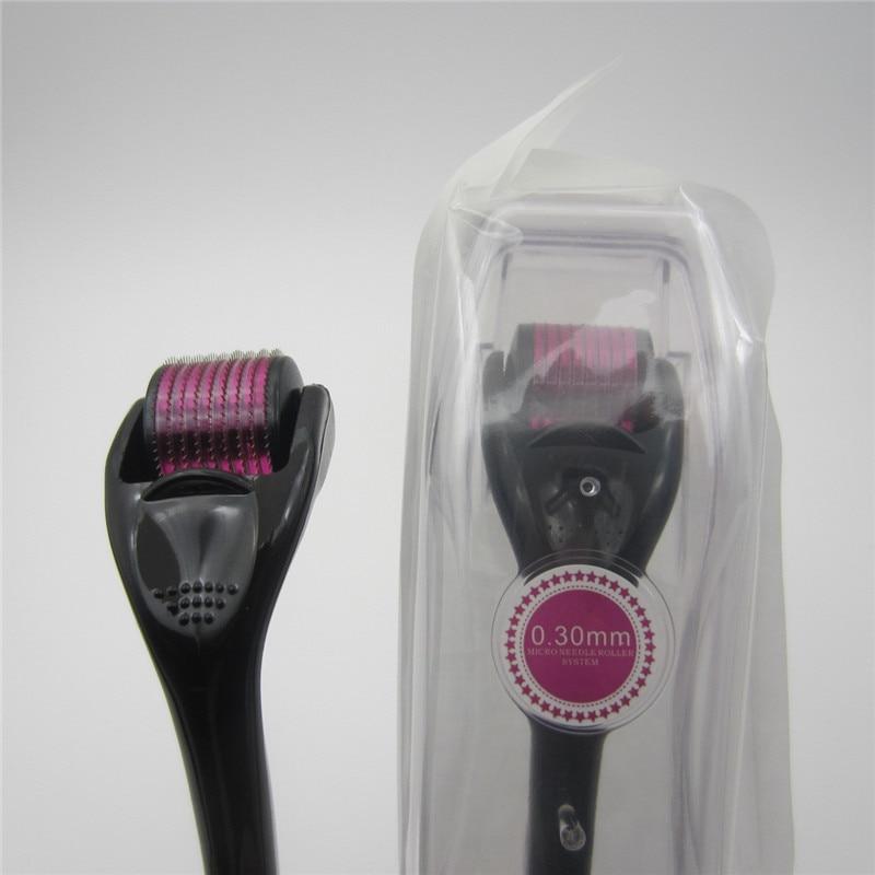 Microneedle Facial Roller Titanium Mezoroller Derma Roller 540 Needles Microniddle Roller Professional Hair-loss Treatment Tool