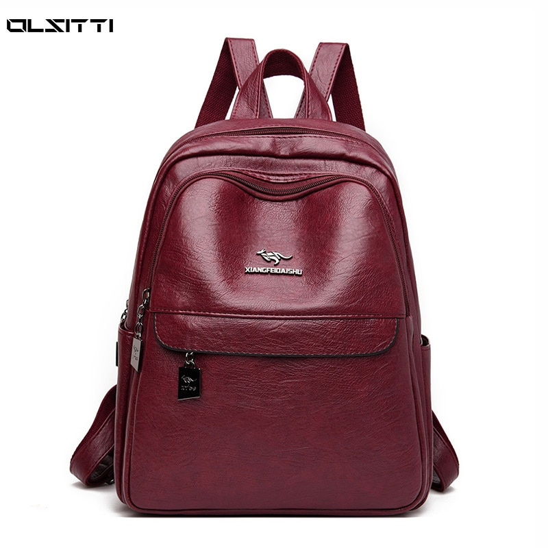 Casual Designer Backpacks for Women High Quality Soft Leather Travel Backpack Female Ladies Daypack Backpack Mochila Travel Bag kujing multifunctional backpacks high quality women backpack cheap trend female student bags hot women travel casual backpack