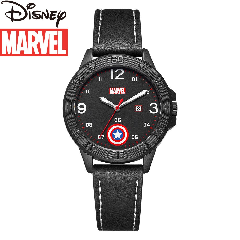 Original Marvel Captain America Shield Boys Casual Belt Quartz Watch Kids Watches Boys Sports Watch Wrist Watch for Kids