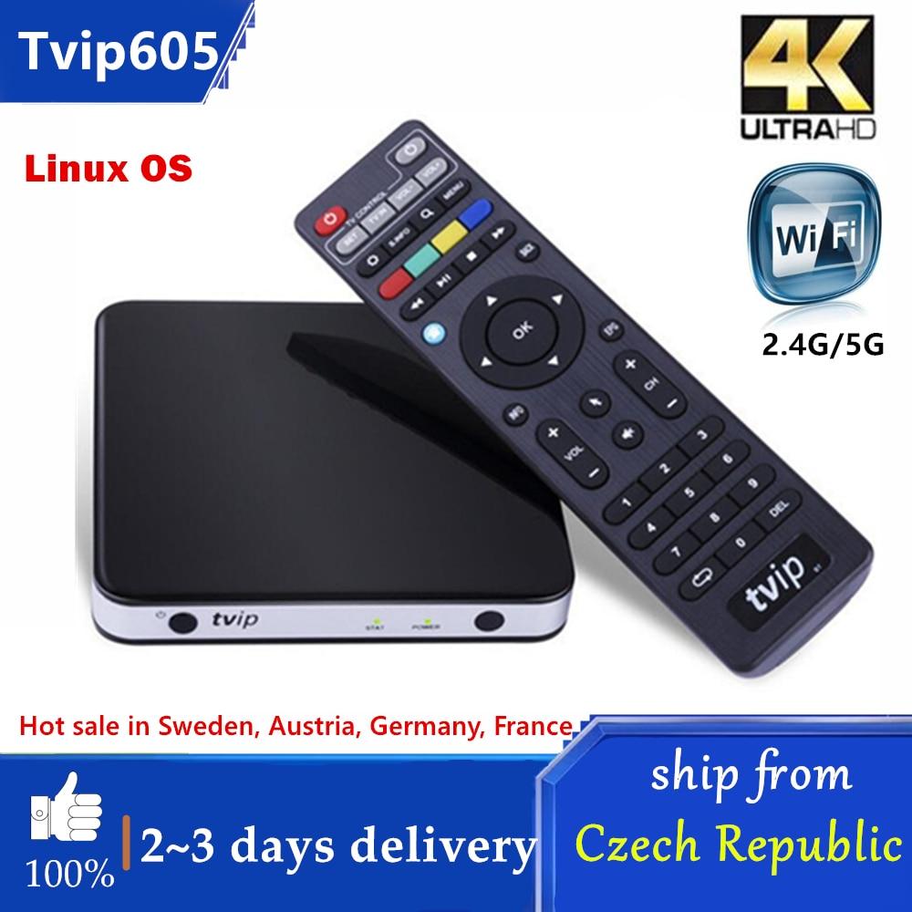 Original TVIP.605 4K caja de Linux TV 8G S905X Quad Core TVIP...