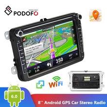 Podofo 2 Din araba radyo GPS Android 8.1 Autoradio 8 inç HD ekran Bluetooth araç Stereo ses radyo araba 2din MP5 multimedya oynatıcı