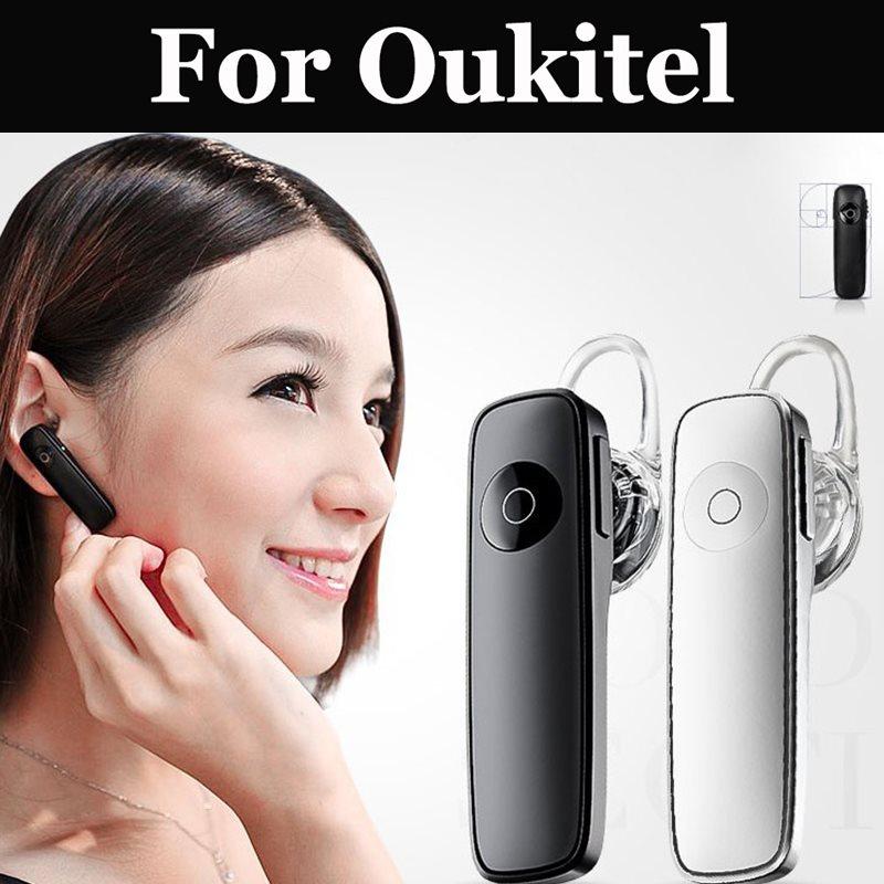 Auriculares inalámbricos Bluetooth con micrófono negro blanco para Oukitel K5000 Mix 2 K8000 C9 C11 Pro U18 K6 K10 k6000 Premium