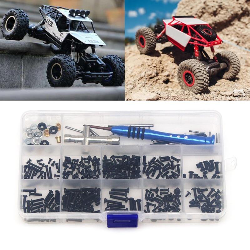 1 caja de tornillos + herramienta de instalación + Pin de brazo oscilante + Kit de envoltura de brida para Wltoys 1/14 144001 pieza de coche teledirigido modelo de coche RC