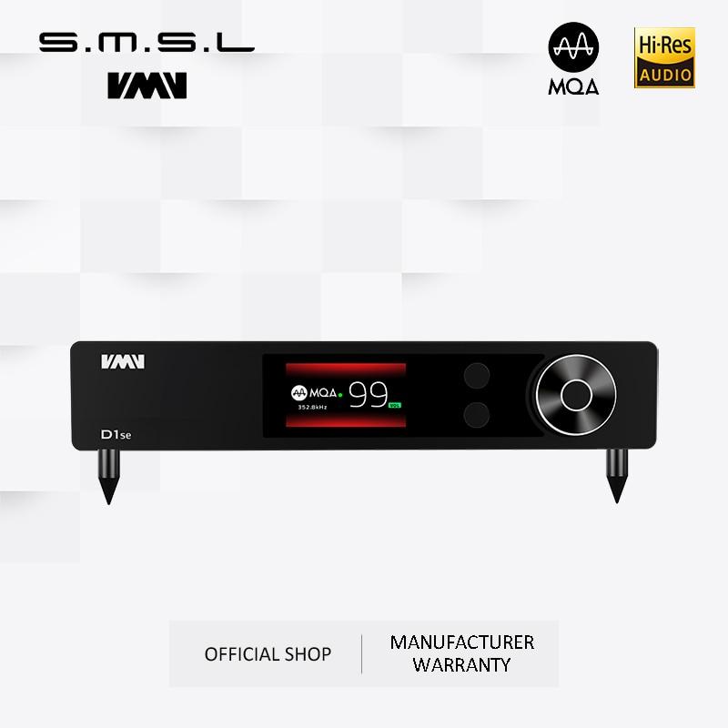 SMSL VMV D1se الراقية MQA الصوت DAC 768kHz 32bit XMOS Bluetooth5.0 USB بصري محوري RCA DSD512 ES9038PRO مع جهاز التحكم عن بعد