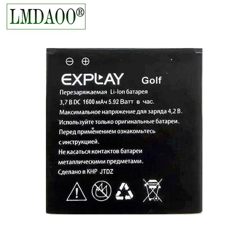 Nueva batería de Li-ion de reemplazo para teléfono móvil Explay Golf de alta calidad de 1600mah para la batería Explay Glof + código de seguimiento válido