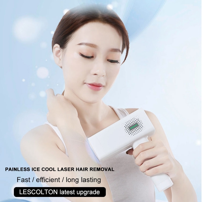 Lescolton Professional IPL Epilator Device 4 In 1 Laser Hair Removal Machine 350000 Flashes ICE Cool Pulsed Light Photoepilator enlarge