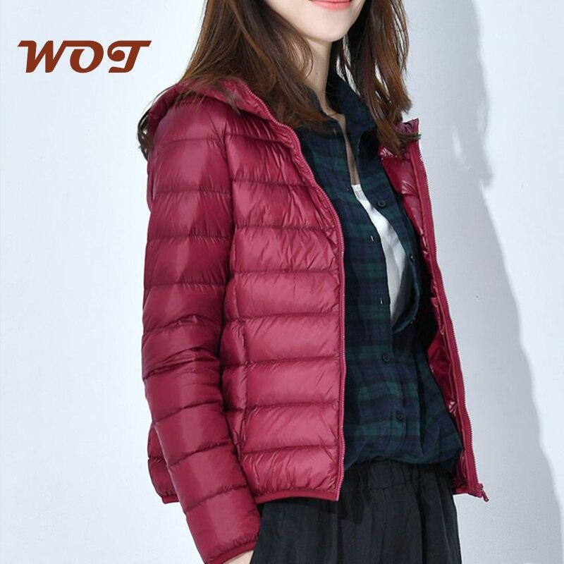 Ultra-light Plus Size Thin Down Jacket Women 2021 Autumn Winter Slim Short Hooded Warm White Duck Down Coat Women Outerwear