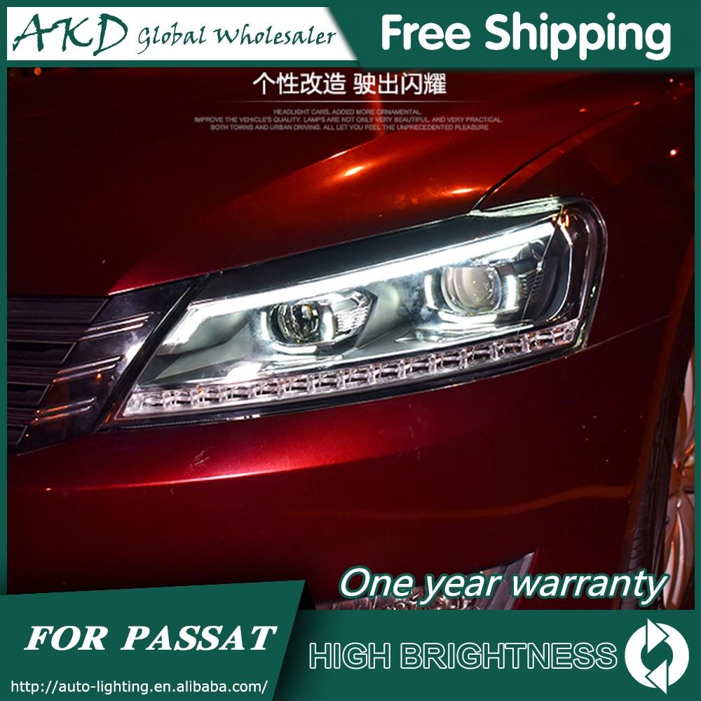 Faros para VW Passat B7 2012-2016 Passat nos DRL día cabeza luces de lámpara LED Bi Xenon bombilla niebla accesorios de luces para coche
