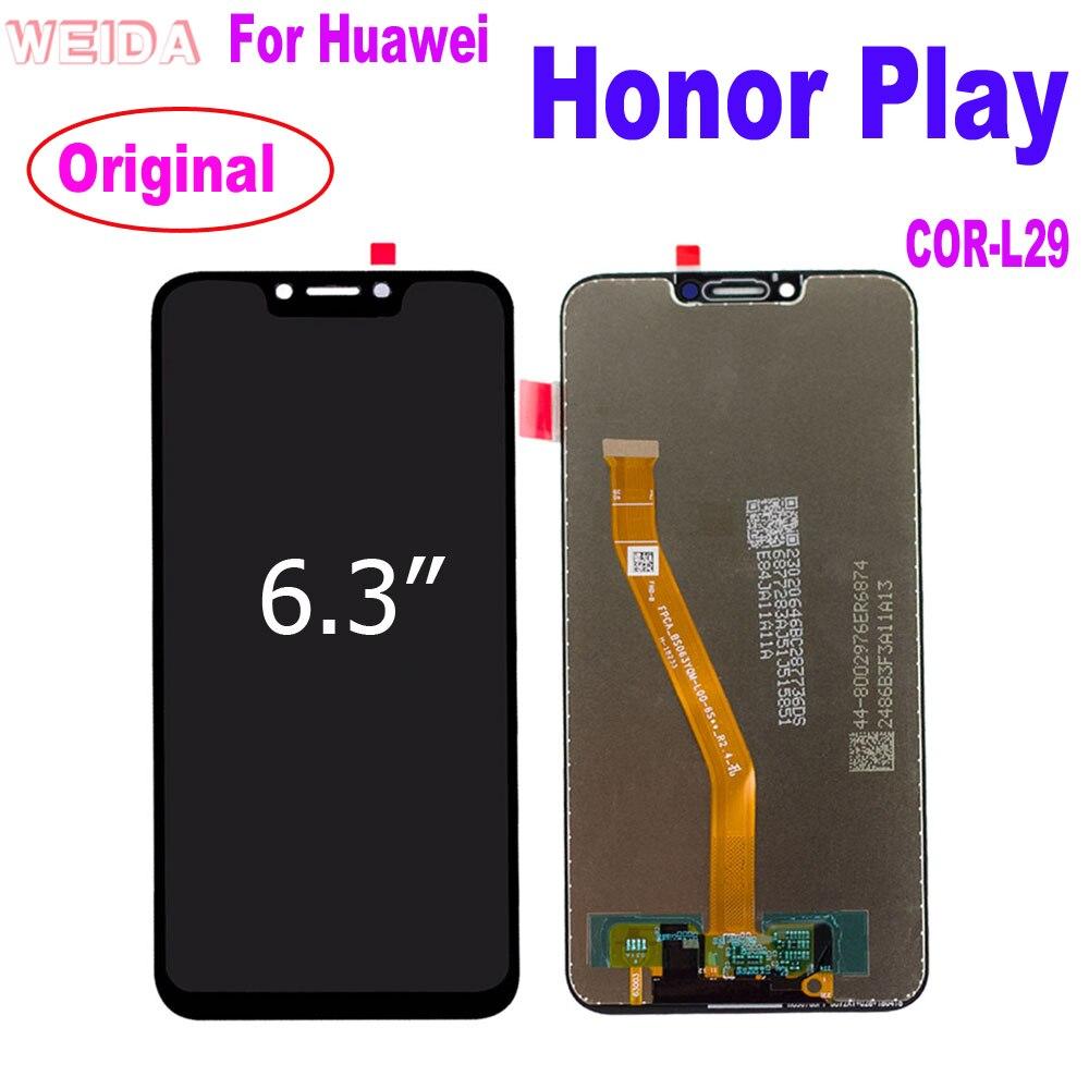 "WEIDA 6,3 ""para Huawei honor play LCD pantalla digitalizador de montaje de pantalla táctil para Huawei honor play COR-L29 LCD Original"