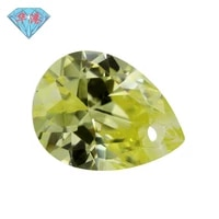one hole olive pear shape cubic zirconia brilliant cut loose cz stone synthetic gems beads for jewelry size3x5 12x16mm