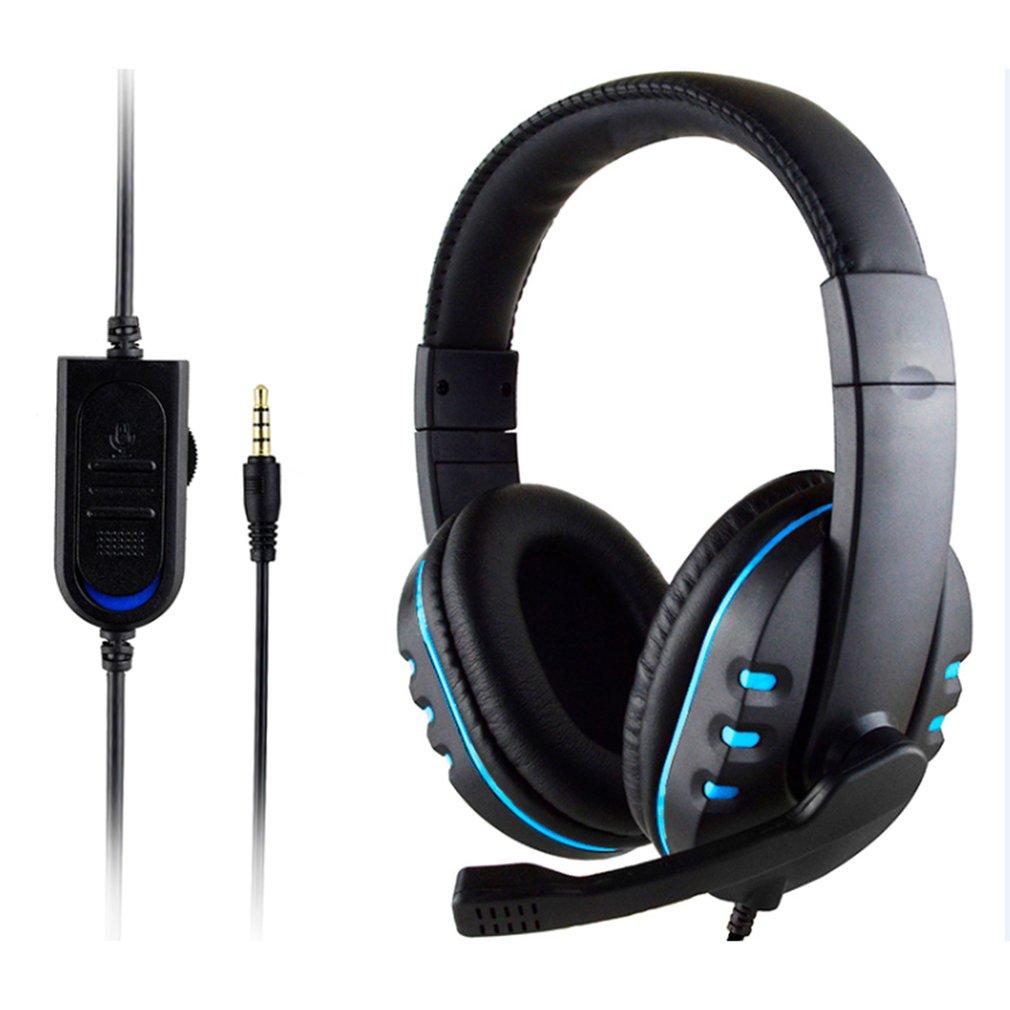 Auriculares estéreo con cable para PS4, Cascos con micrófono para videojuegos, música,...