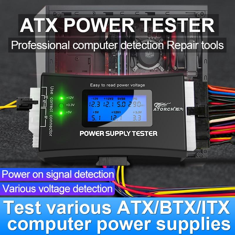PC Computer ATX Power Supply dc digital voltmeter electric voltimetro 12v volt meter usb voltage tes