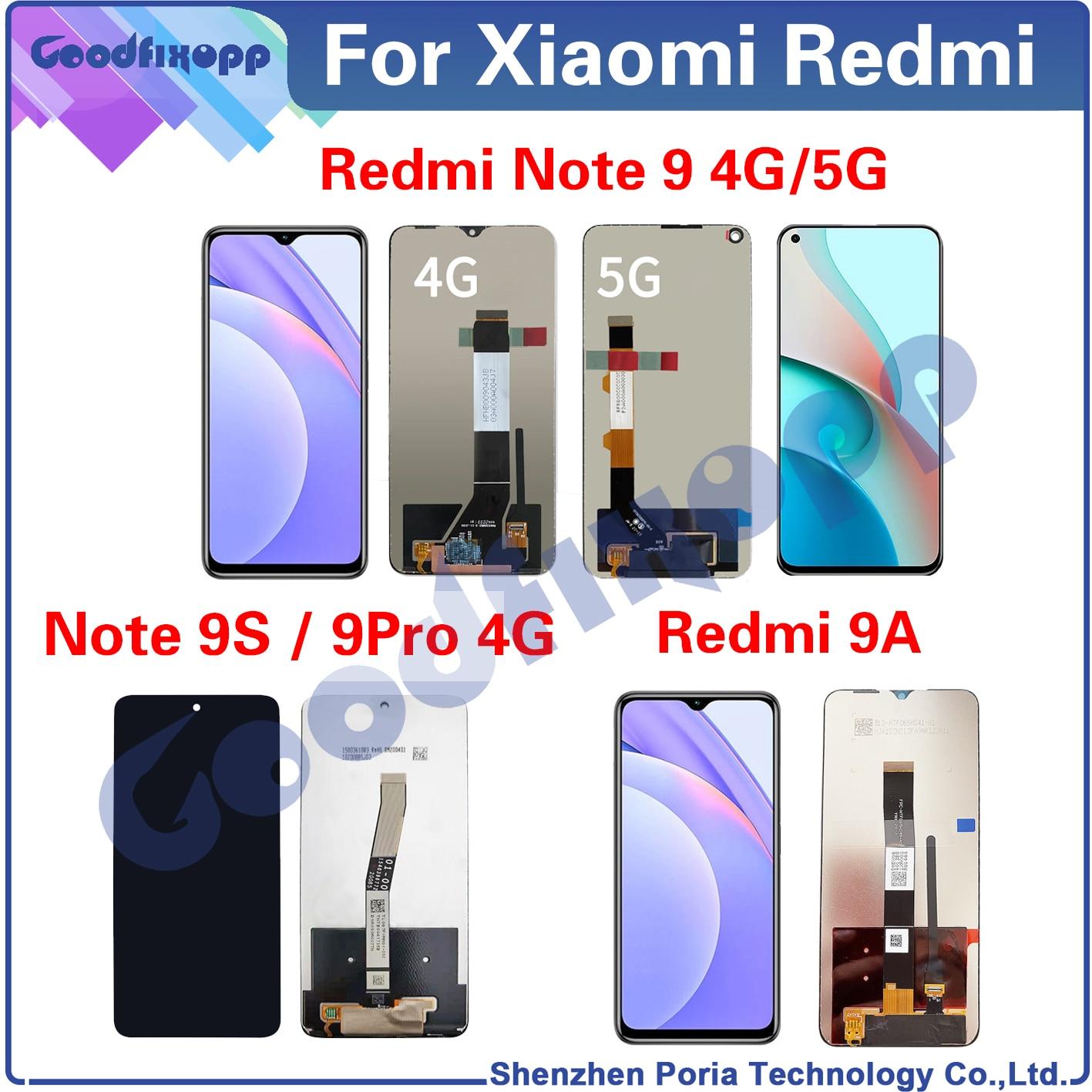 100% اختبار AAA ل شاومي Redmi نوت 9 برو 9S 9A 4 جرام 5 جرام شاشة LCD تعمل باللمس محول الأرقام الجمعية ل شاومي Redmi نوت 9Pro