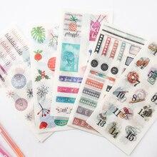 4 pièces/paquet Funky ordure reconnaissance temps Scrapbook journal autocollants Scrapbooking papier artisanat bricolage flocons papier autocollant