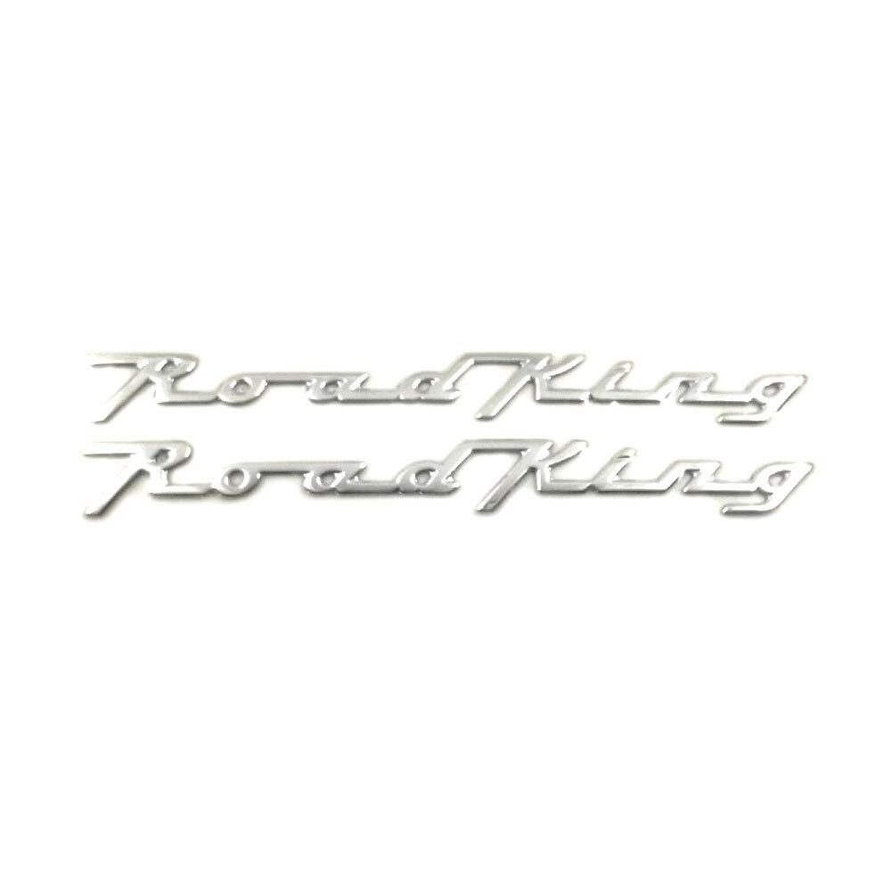 Estrada rei logotipo cvo etiqueta etiqueta da motocicleta scooter para harley-davidson alta temperatura resistência pvc roadking 14.5 cm