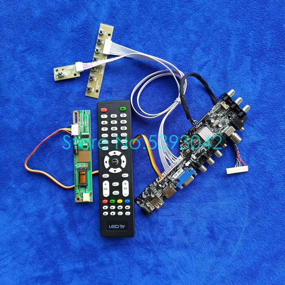 وحدة تحكم بشاشة إل سي دي طقم لوحة USB VGA AV 1024*768 1-CCFL إشارة رقمية dvb-t Fit LP150X09/LP150X10/LP150X2 مراقب 30 Pin LVDS