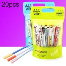 20Pcs Cute Animal Smooth Writing Black Blue Ink Magic Erasable Gel Pen School Stationery Erasable Pen Smooth Writing Pen