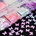 3D бабочка цветок блеск ломтик Блестки для нейл Арта (искусство украшения ногтей) светильник-меняющий чешуйчатый лак Маникюр украшения для ногтей аксессуары - фото