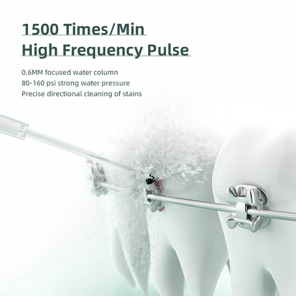 Seago Portable Oral Irrigator Dental Water Flosser USB Rechargeable 5 Jet Nozzles 190ML Vacuum Tank Waterproof Teeth Cleaner enlarge
