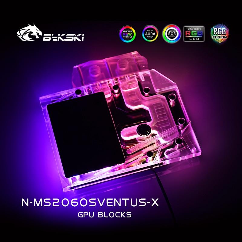 Bykski GPU Water Block For MSI RTX2060 Super 8G VENTUS XS C OC, Water Cooling GPU Water cooler,RGB/RBW Light, N-MS2060SVENTUS-X