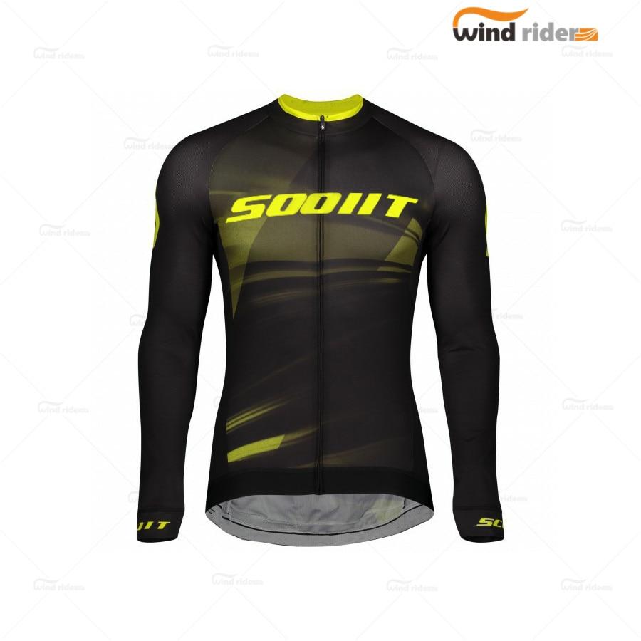 Scotful-Ropa deportiva de manga larga para hombre, equipo profesional para Maillot de...