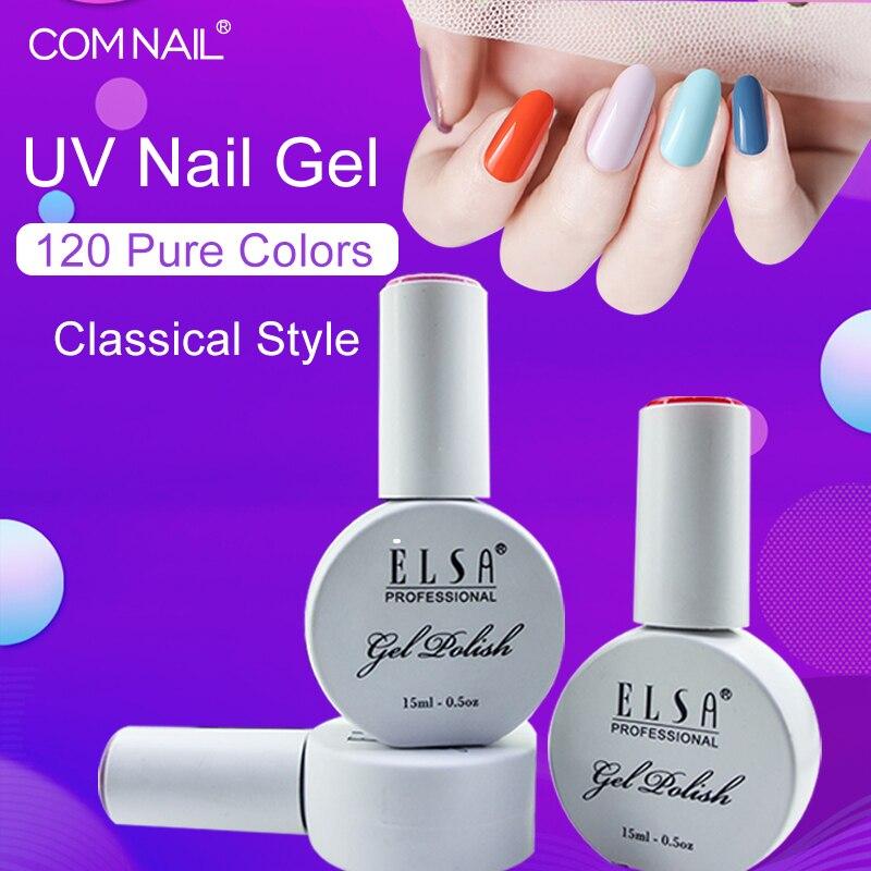 Elsa 15ml Gel polaco UV LED uñas barniz para manicura 120 colores clásicos Gel laca Semi permanente Gel envío desde Moscú