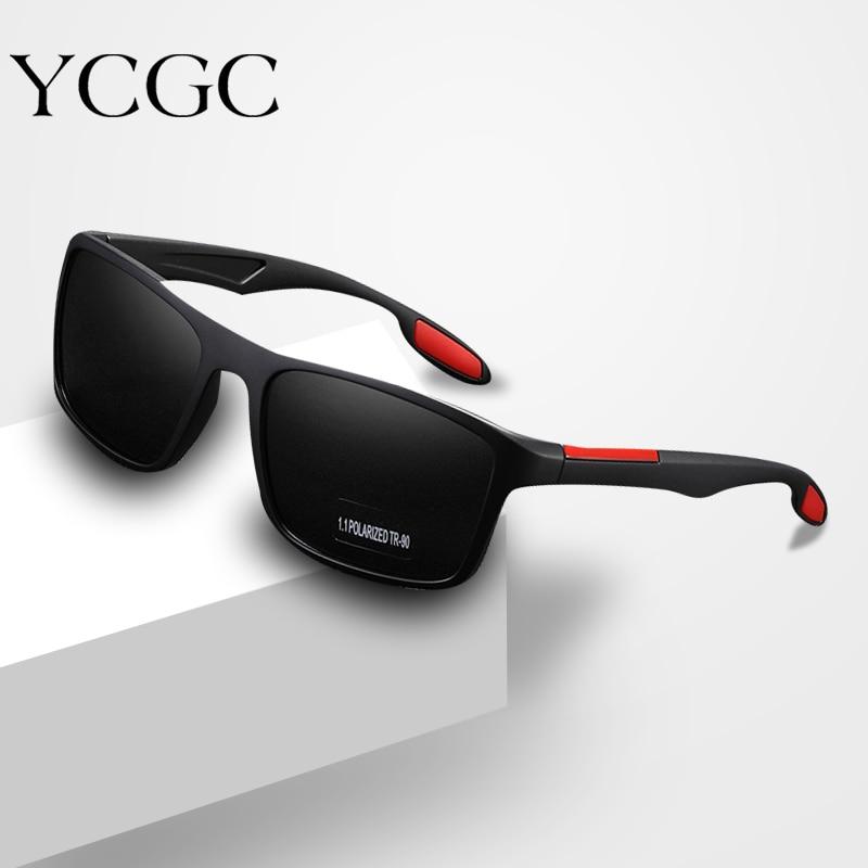 Мужские спортивные очки для вождения, модные мужские очки оранжевого и синего цвета, очки с затемненными линзами, мужские поляризованные со...