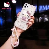 hello kitty for iphone 78pxxrxsxsmax1112pro12mini personality rhinestone luxury mobile phone case