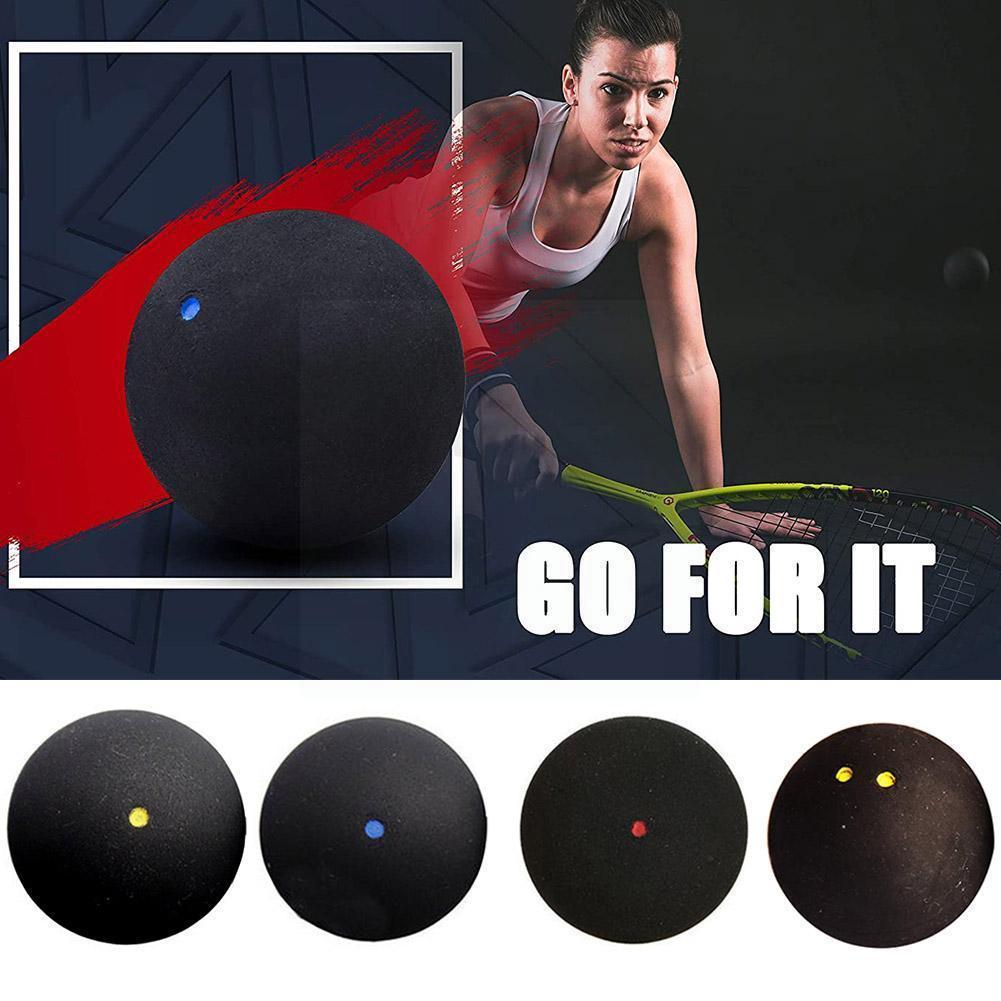 1 шт. 37 мм Профессиональный Сквош-шар желтая точка низкоскоростной трубчатый мяч упаковка Сквош тренировочный синий мяч резиновая точка S6d5