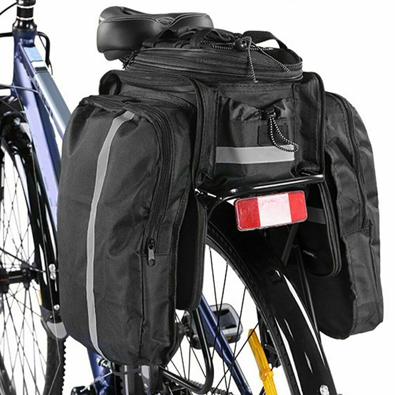 Bolsa de transporte para maletero de bicicleta, estante trasero para equipaje, bicicleta de montaña de doble cara, bolsa de transporte para bicicleta de montaña Saf resistente al agua de gran capacidad