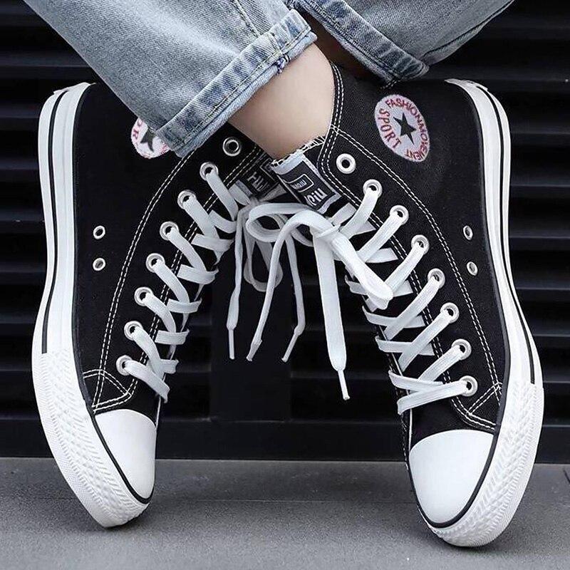 Zapatillas de lona para hombre, zapatillas cómodas para amantes, zapatos planos informales para mujer, rojo, blanco, negro, azul, zapatos transpirables para caminar, tallas grandes 44