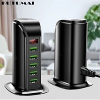 5port usb charger 2 4a fast charging phone charger adapter led display multi port usb charging station charger for iphone xiaomi