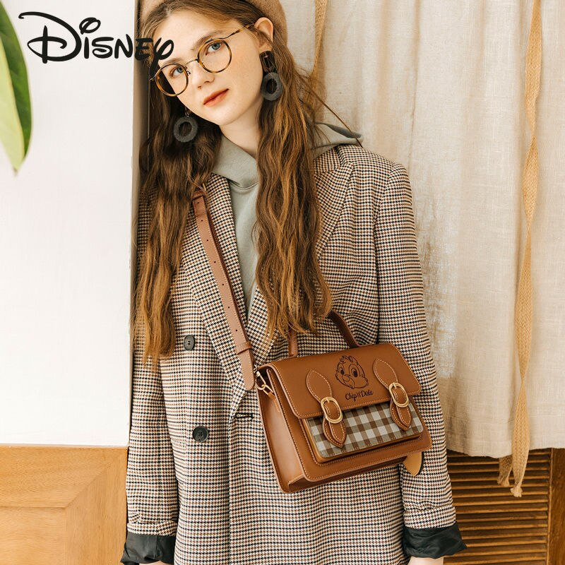 Disney New Authentic Cartoon Cute Lady Handbag Fashion Casual Large Capacity High Quality Luxury Lady Shoulder Messenger Bag