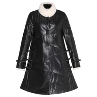 sheepskin quality genuine fashion high leather womens down jacket luxury mink fur collar coat female woman parkas casacozjt295