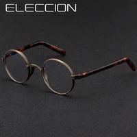 vintage men titanium glasses frame round women japan luxury prescription myopia optical acetate eyeglasses frame small eyewear