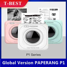 Global Version PAPERANG P1 Pocket Mini Printer 200DPI BT4.0 Phone Connection Wireless Thermal Printer Compatible w/ Android iOS