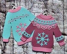 KLJUYP Cute Ugly Sweater Metal Cutting Dies Scrapbook Paper Craft Decoration dies scrapbooking
