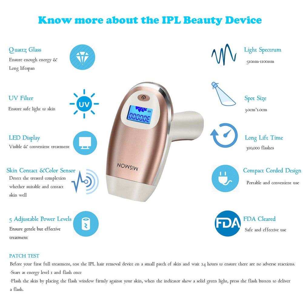 Home 3 in 1 IPL Laser Hair Removals  IPL Skin Rejuvenation Acne Treatment Women Men Laser Hair Removers Machine Permanet Results enlarge