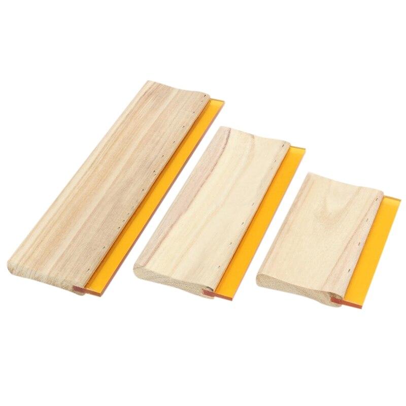 3 pces tela de seda impressão rodo de tinta scaper scratch board ferramentas 16cm 24cm 33cm