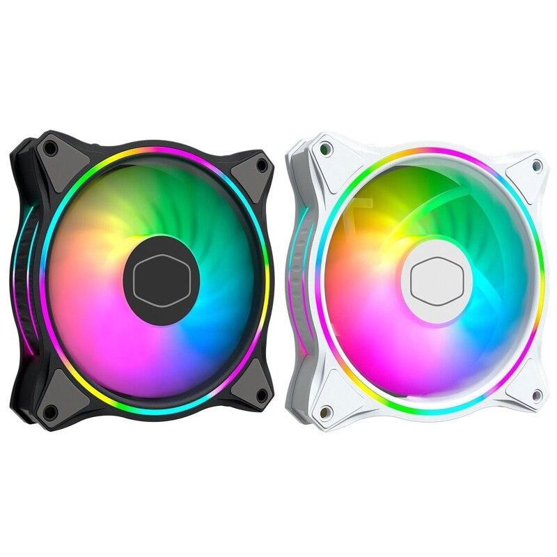 MasterFan-مروحة RGB مزدوجة الحلقة قابلة للعنونة ، علبة الكمبيوتر ، المبرد السائل ، المشتت الرئيسي ، MF120