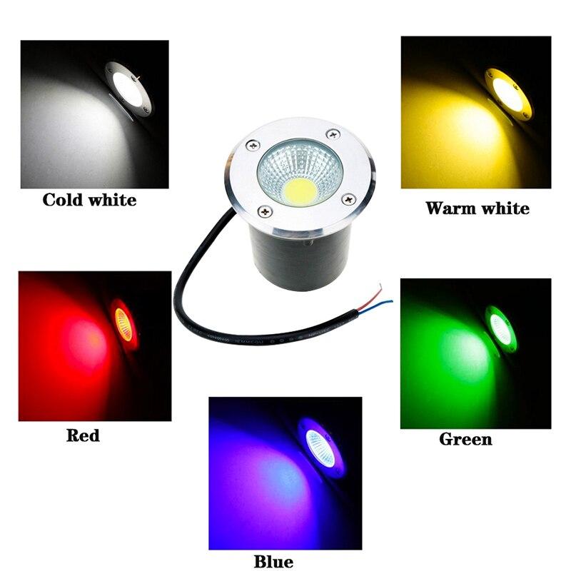 Luz LED subterranea de 3W, 5W, 10W, COB, lampara de pie, terreno de exterior, paisaje, jardin, camino cuadrado, patio enterrada enlarge