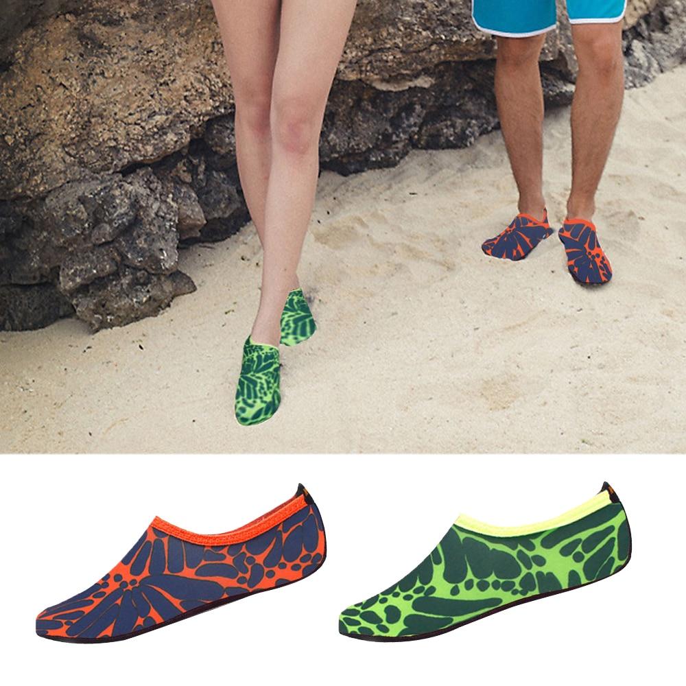Swimming Shoes Men's Striped Beach Shoes Diving Socks Drifting Beach Water Sport Socks River Anti Slip Yoga Fitness Shoes