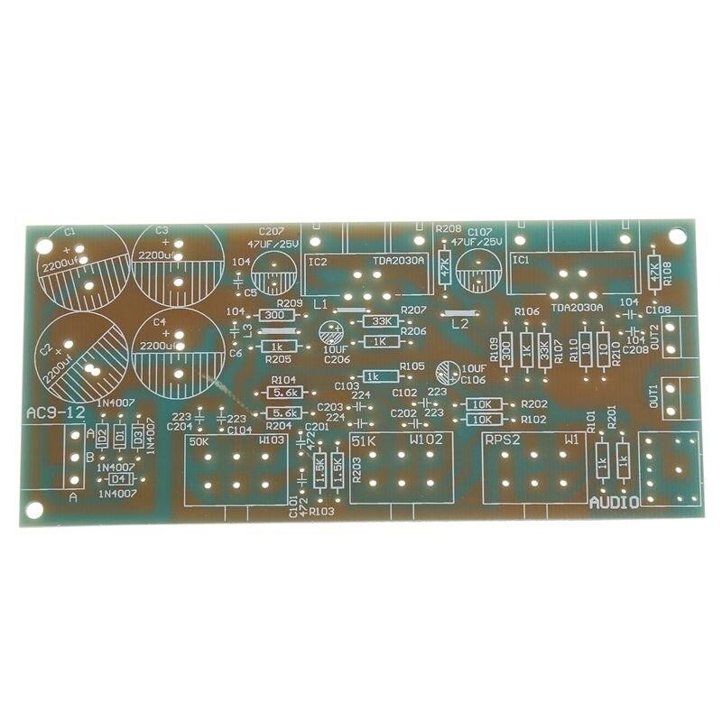 1x 2x18W TDA2030A 2.0 Double Track TDA2030A o Amplifier Board Module DIY Kit enlarge