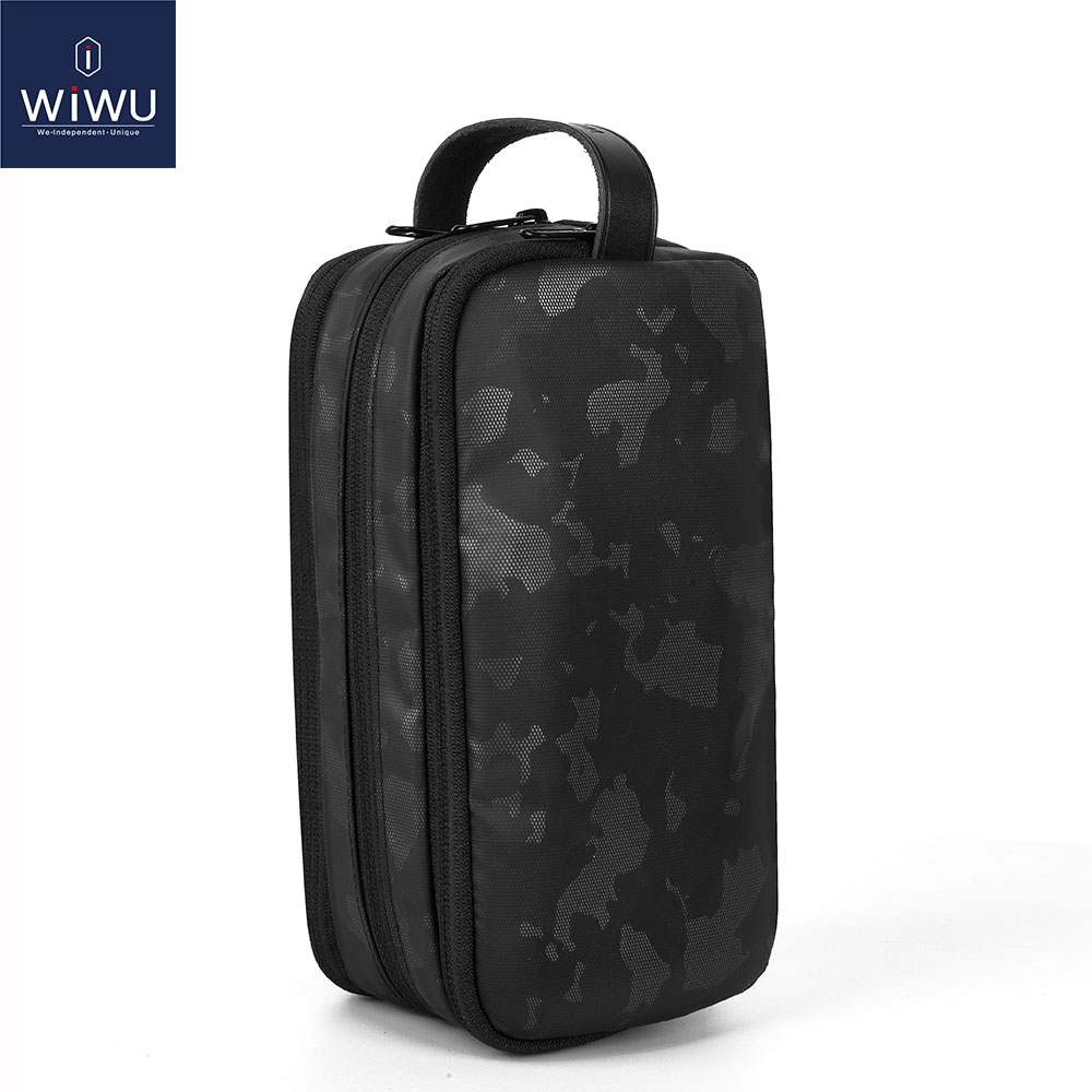 WIWU Electronic Storage Bag Portable Design Travelling Organize Carry Pouch for Mobile Phone Cables Charger Gadget Storage Bags