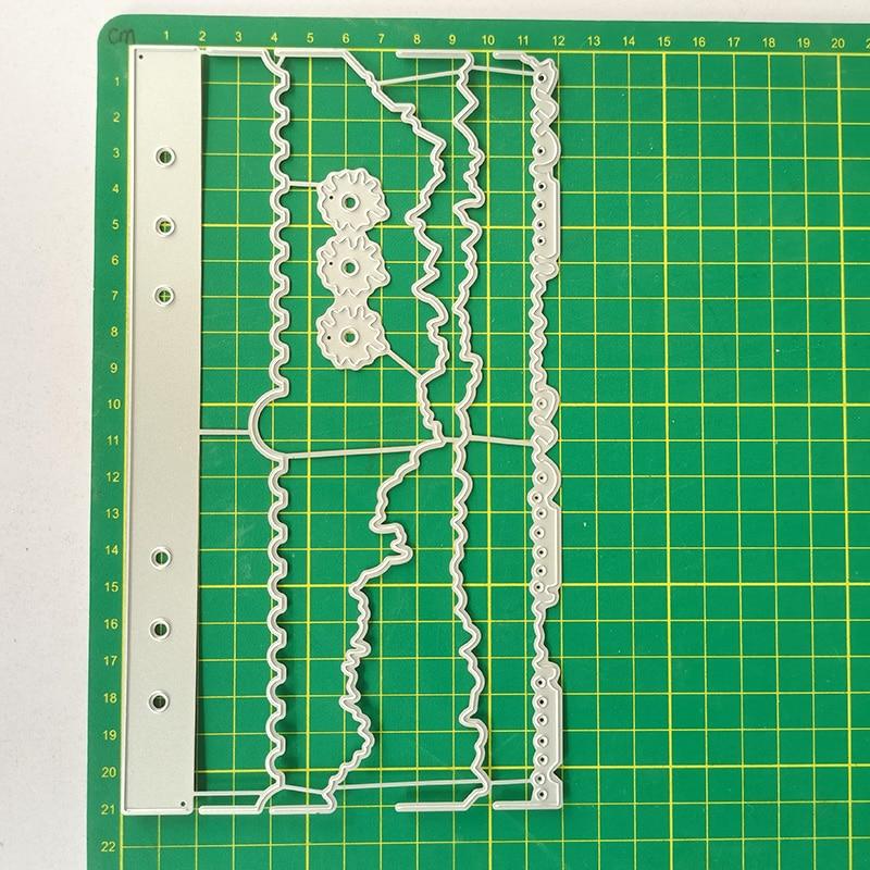 JMCRAFT 2021 Notebook Book Page Decoration  2 Metal Cutting Dies DIY Scrapbook Handmade Paper Craft Metal Steel Template Dies